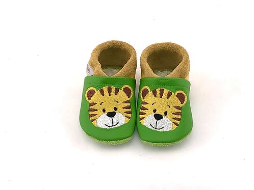 SK Kinderlederschuh Bestickt: Tiger