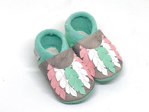 Kinderlederschuh Modell Federn