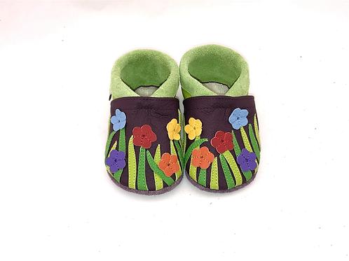 SK Kinderlederschuhe Blumenwiese