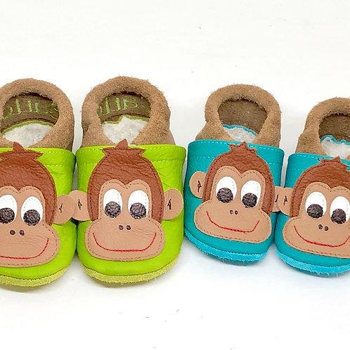 Kinderlederschuh Modell Affe