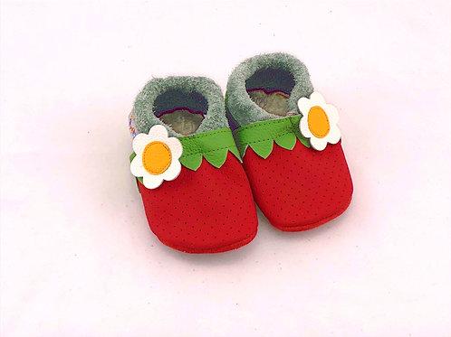 SK Kinderlederschuhe Erdbeere