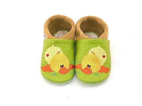 SK Kinderlederschuh Bestickt: Modell Ente