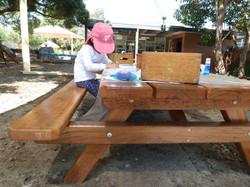 Outside picnic table