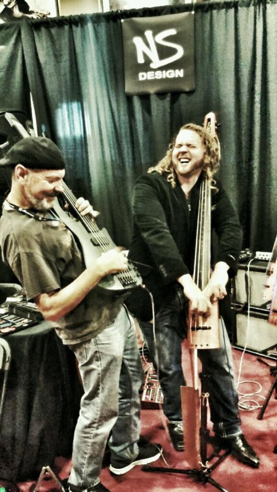 Jamming with Harold Henkel at NAMM