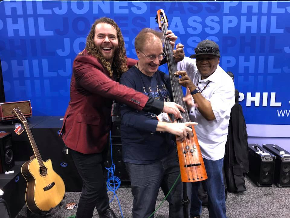 NAMM 2018 fun at Phil Jones
