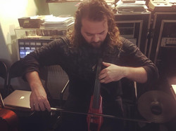 Recording Session Violin as Bass