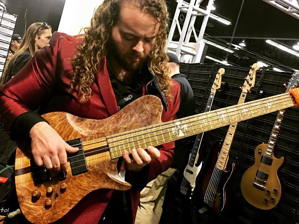 2018 NAMM Warrior Bass with Bartolini Pick Ups