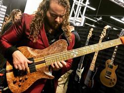 2018 NAMM Warrior Bass with Bartolini Pick Ups