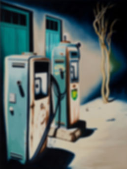 pump, oil, painting