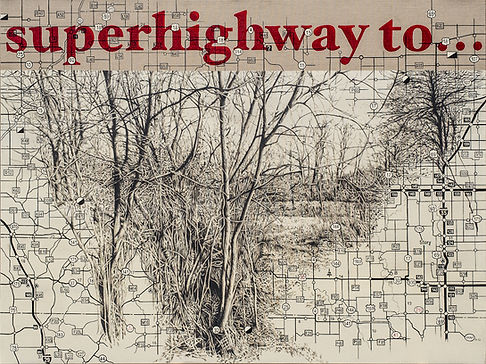 Superhighway to, painting, acrylic