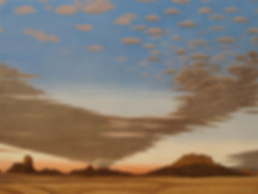 cumulus, pastel chalk, painting