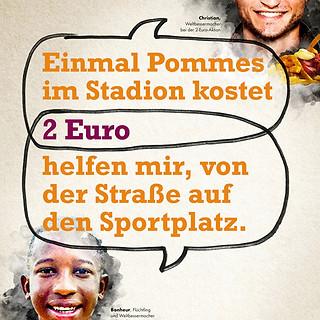 """Misereor """"Für 2 Euro im Monat helfen"""""""