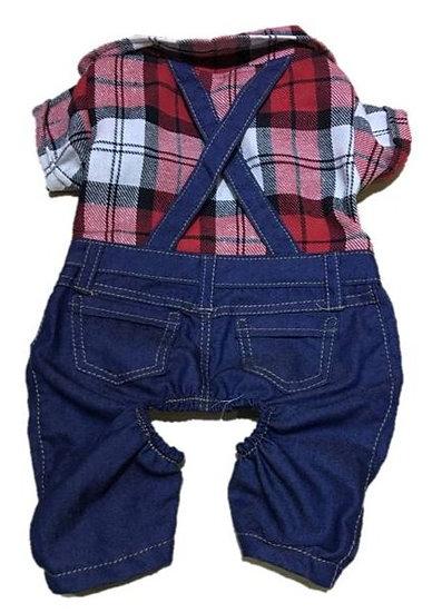 Macacão Xadrez e Jeans