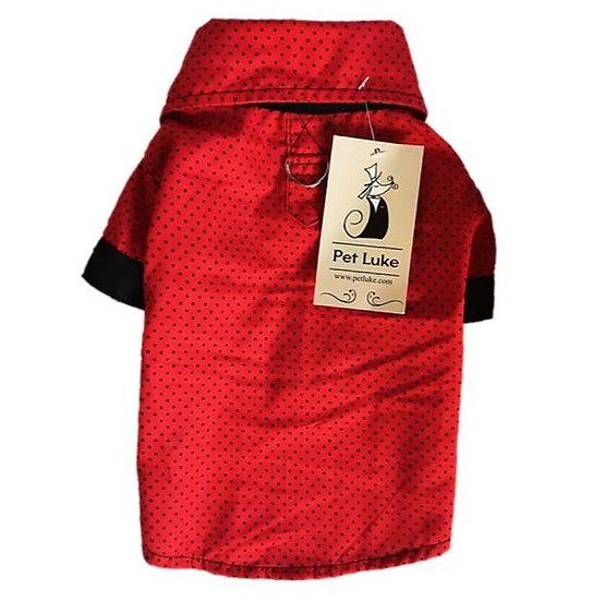 Camisa Vermelha Poá