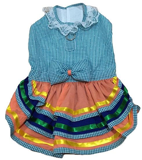 Vestido Junino Xadrez