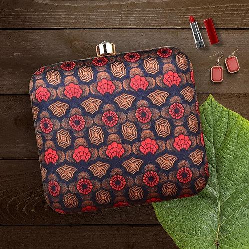 Floral and Geometrical Cascade - Clutch Bag
