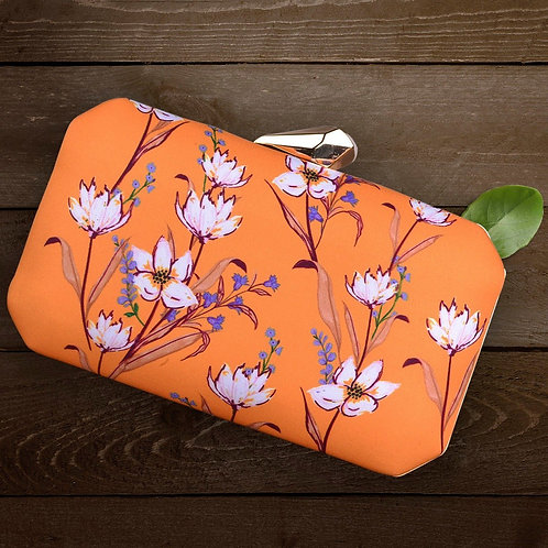Floral Tangerine - Clutch Bag
