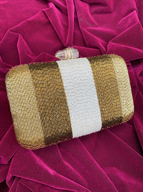Sparkle - Gold, copper and white Clutch bag