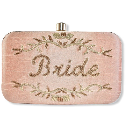 Bridezella - Bride pink clutch bag