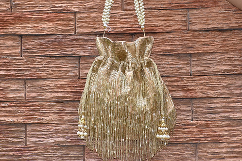 Golden Falls Potli Bag