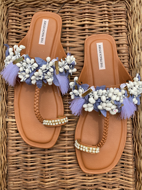 Flora - Floral Kolhapuri Flats Footwear
