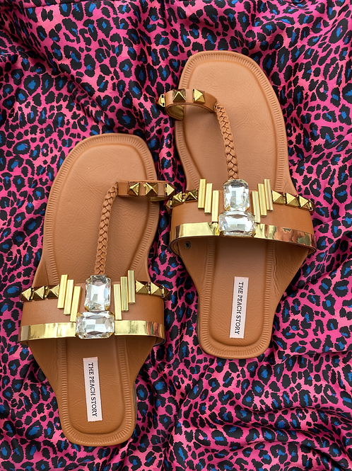 Sepia - Tan Kolhapuri Footwear