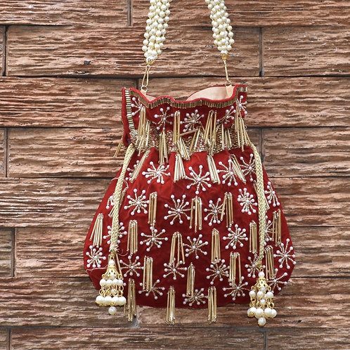 Ruby - Red Potli Bag