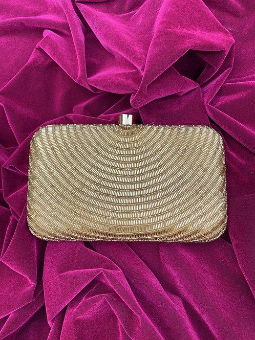 Lustre dust - Golden clutch bag