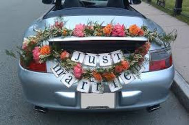 Car Deck Decoration, Just Married