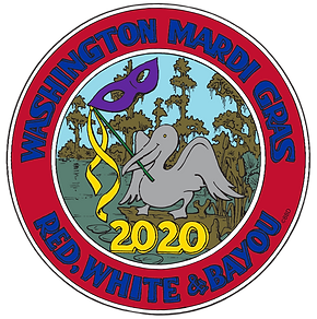 RED WHITE AND MARDI GRAS WASHINGTON MARD