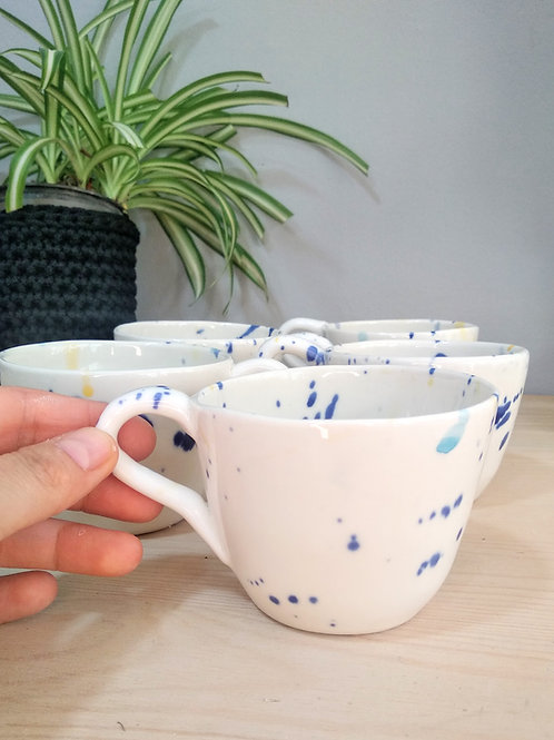 Cycladic colours porcelain coffee tea cup/mug 200ml