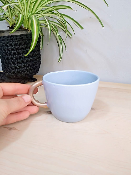 Serenity blue porcelain coffee cup 200ml