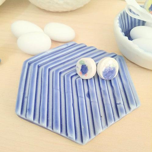 Porcelain coasters in blue_Christening favors