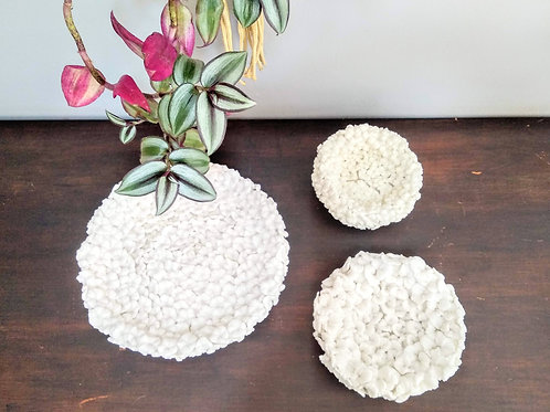 Porcelain Flowers Centerpieces_Handmade detailed organically formed flowers