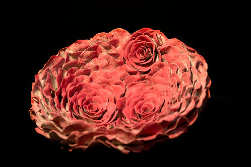 Red Roses_Wall Mounted Sculpture_Organic Form