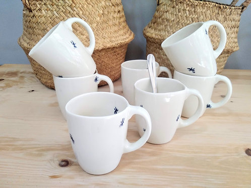 Hand painted ant porcelain coffee cups 200ml
