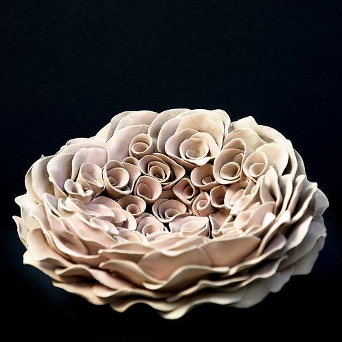 Light Pink Rose Bouquet_Wall Mounted Sculpture_Organic Form
