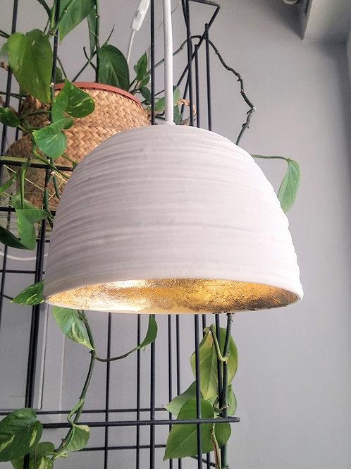 Contemporary handmade illuminating porcelain pendant lights with texture