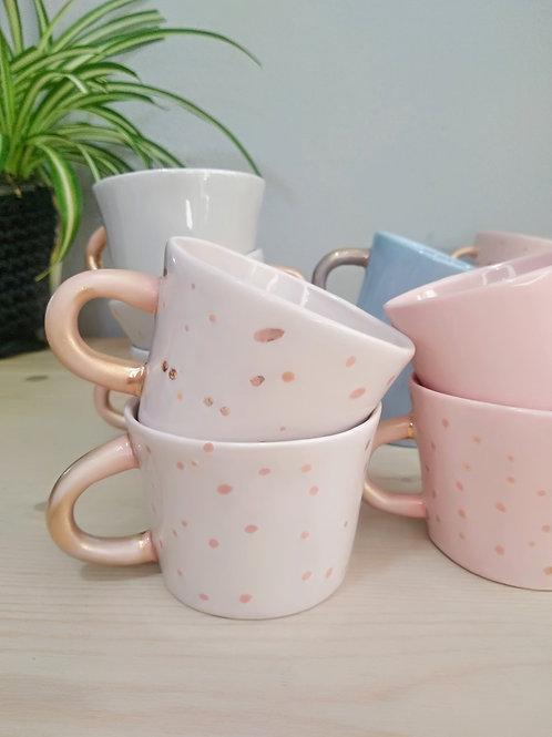 Pastel colours porcelain coffee cups 100ml