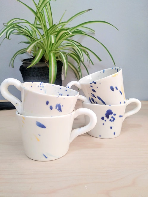 Small size Cycladic colours porcelain espresso/greek coffee cup 100ml