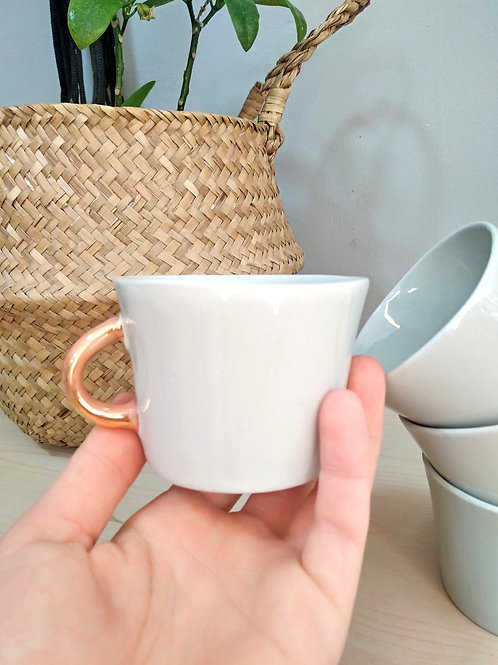 Pistachio pastel green porcelain coffee cup 100ml