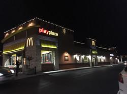 McDonalds xmas light installation