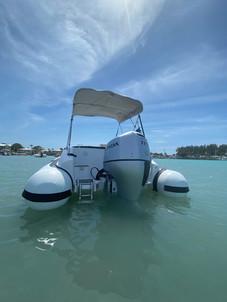 Boat anchored in Venice, FL