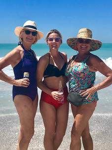 Girls hanging out on the beach