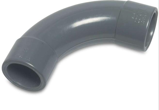 PVC Pressure Swept 90 Elbow