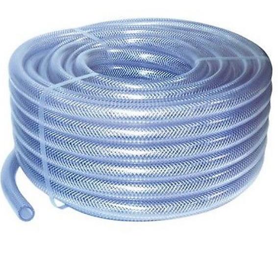 8mm Clear Braided PVC Air Hose 30m