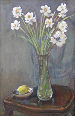 flowers on a chair