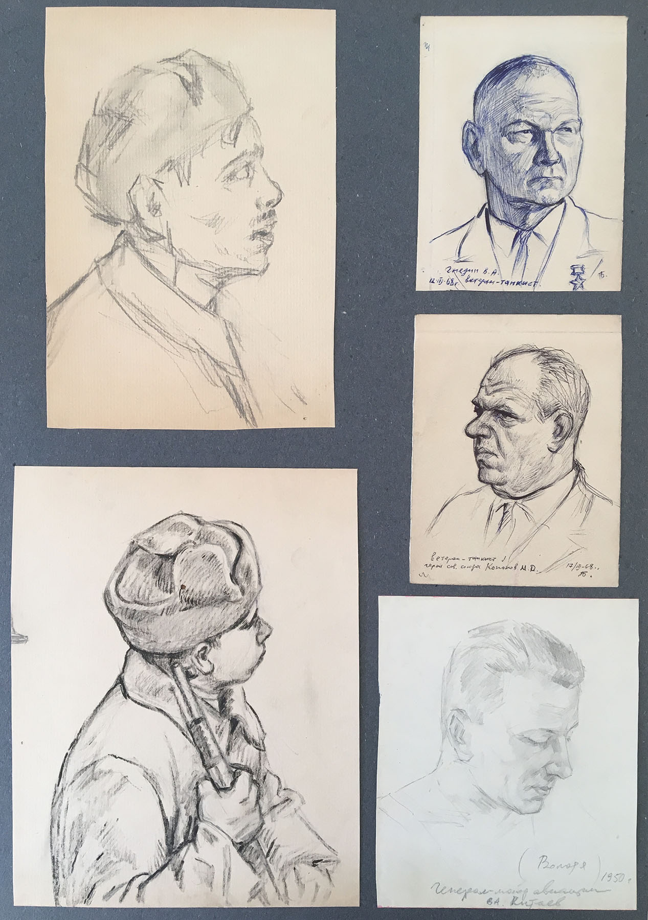 Drawings of WWII soldiers