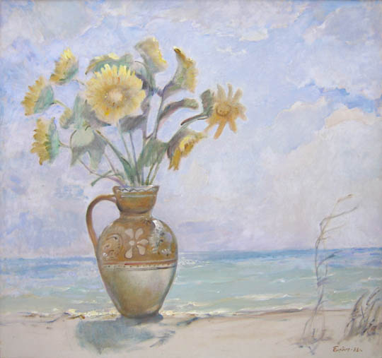 sunflowers on the beach