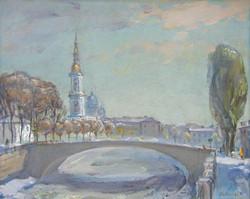 St Nickol's over a bridge
